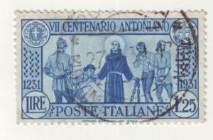 J6669 JLs stamps 1931 italy used #262 $9.50v