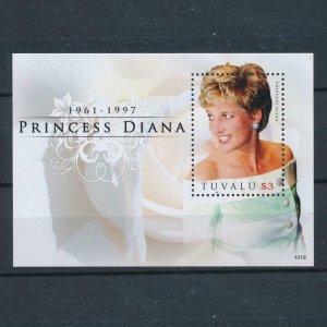 [106683] Tuvalu 2010 Royalty Princess Diana Souvenir Sheet MNH