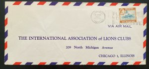 1963 Causeway Southern Rhodesia Lions Club Airmail Cover To Chicago iL USA