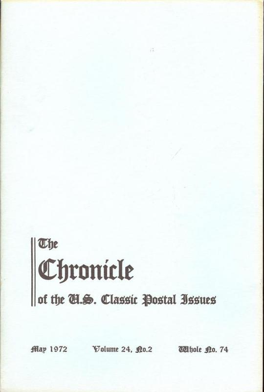 The Chronicle of the U.S. Classic Issues, Chronicle No. 74