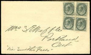 EDW1949SELL : CANADA Nice usage of 1901 cover with Smith Falls & Portland c.d.s.