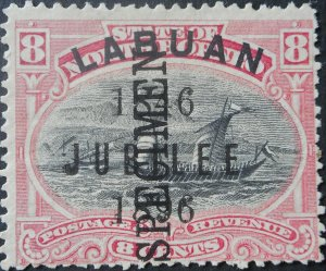 Labuan 1896 Eight Cents Jubilee SPECIMEN SG 88s mint