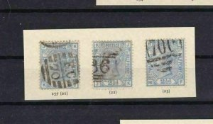 GREAT BRITAIN SURFACE PRINTED SG 157 2½d BLUE PLATES 21, 22, 23 STAMPS  REF 4705