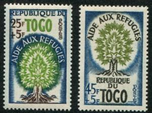 Togo SC# B15-6  World Refuge Year set  mint hinged