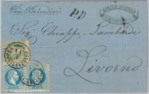 66022 - AUSTRIAN LEVANT -  POSTAL HISTORY -  COVER from CONSTANTINOPEL  1873