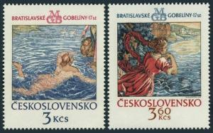 Czechoslovakia 1952,1954,MNH.Michel 2265-1266. Tapestry from Bratislava,1975.