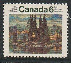 1970 Canada - Sc 518 - MNH VF - 1 single - Isles of Spruce by Lismer