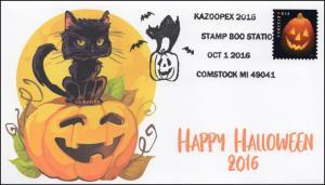 2016, Halloween, Pumpkins, Kazoopex, Cat, Pictorial, 16-301