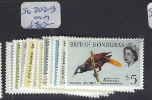BRITISH HONDURAS (P0104B)  QEII  BIRDS SG 202-213  MOG
