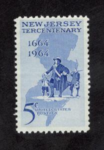 1247 New Jersey Tercentenary US Postage Single Mint/nh (Free Shipping)