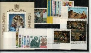 Vatican City Scott 942-70a Mint NH (1994 Year Set)