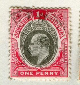 SOUTHERN NIGERIA;   1904 early Ed VII issue fine used 1d. value
