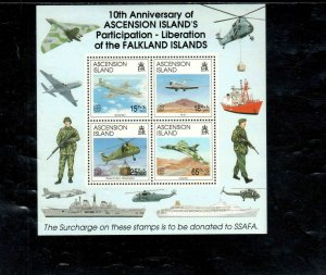 ASCENSION #548 1992 PARTICIPATION IN FALKLAND LIBERATION MINT VF NH O.G S/S