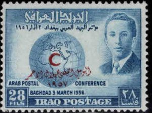 IRAQ Scott 173 MH* Red Crescent Society overprint stamp
