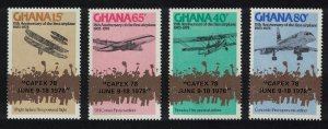 Ghana 75th Anniversary of Powered Flight 4v ovpt 'CAPEX 78' SG#845-848