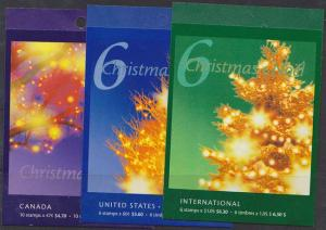 Canada USC #BK248a, 249a and 250a Complete Sealed Booklets - Face Alone $14.60