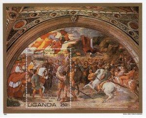 UGANDA  1983 Sc#368  500th.Anniv.Raphael Ptgs Souvenir Sheet (1) MNH