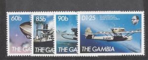 Gambia, 529-32, Transatlantic Flight 1984 Singles,**MNH**