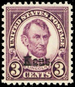 661, Mint VF/XF NH 3¢ Kansas Stamp - Stuart Katz