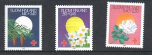 Finland Sc B238-40 1988 Red Cross Festivals stamp set mint NH