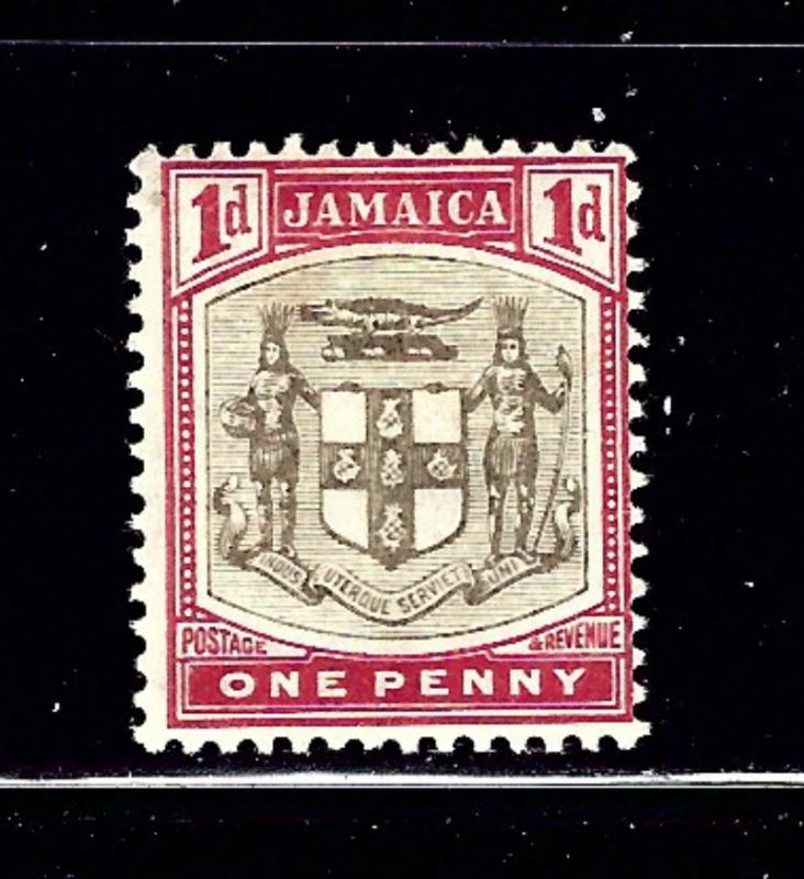 Jamaica 38 MH 1905 issue number penciled on gum