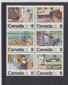 CANADIAN SET ON LETTER CARRIER SERVIC-6 USED STAMPS  LOT#47