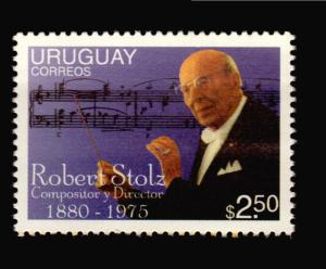 AUSTRIA MUSIC composer Opera film music Robert STOLZ STAMP MNH URUGUAY #1607b