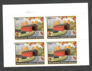 4738 Arlington Green Bridge Plate Block Mint/nh FREE SHIPPING