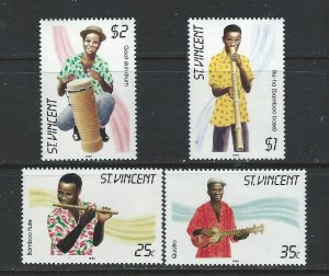 St. Vincent MNH 845-8 Traditional Instruments SCV 2.00
