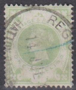 Great Britain #122 F-VF Used CV $60.00 (A10166)
