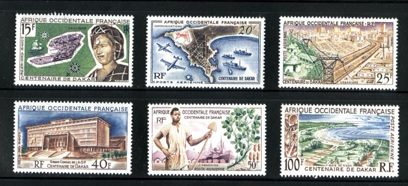 FRENCH WEST AFRICA C22-C27 MNH SCV $16.20 BIN $8.00