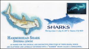 17-188, 2017, Sharks, Hammerhead Shark, Digital Color Postmark, FDC