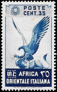 1938 ITALIAN EAST AFRICA  SC# 9  - XF SUP LN UNUSED CV 2.50