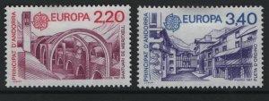 ANDORRA, 352-353, HINGED, 1987, EUROPA