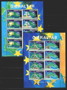Gibraltar. 1994. ml 683-86. Science, Inventions, Europe. MNH.
