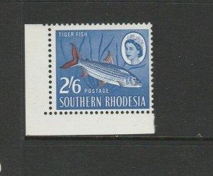 Southern Rhodesia 1964 Defs, 2/6 Fish, UM/MNH Corner copy SG 102