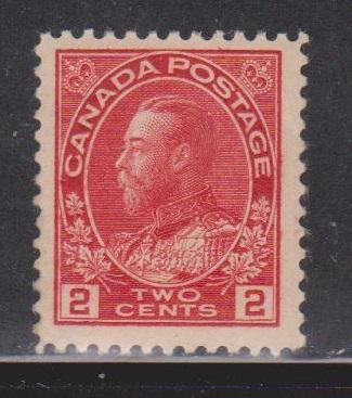 CANADA Scott # 106 MH - KGV Admiral Issue