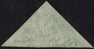 CAPE OF GOOD HOPE 1863 TRIANGLE 4D STEEL BLUE DLR PRINTING USED