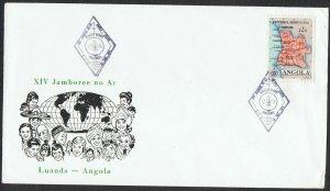 Angola: 1972? Luanda Jamboree pictorial cover with commemorative pmk TS322