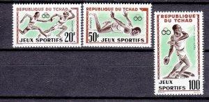J26936 1962 chad mh set #83-4,c8 sports