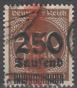 Germany #258 F-VF Used CV $19.00 (C4485)