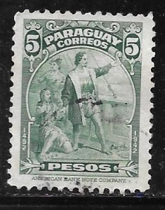 Paraguay 401: 5p Christopher Columbus, used, VF