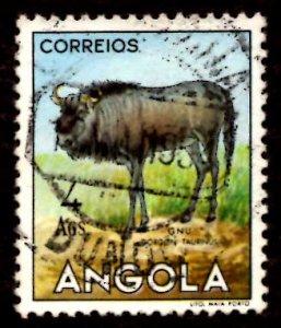 Angola 1953 African Brindled gnu Wild Animals 4a Scott.375 Used (#9)