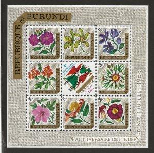 BURUNDI  UNLISTED  FVF MNH 1966