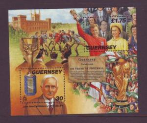 Guernsey Sc 635 1998 Soccer Rules stamp sheet mint NH