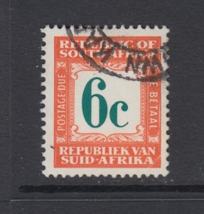 South Africa, Scott J71 (SG D68), used