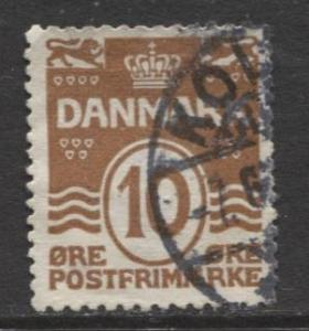 Denmark - Scott 95 - Definitive Issue -1930 - Used - Single 10o Stamp