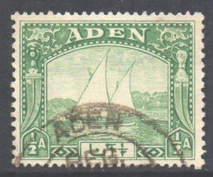 Aden Scott 1 - SG1, 1937 Dhow 1/2a used