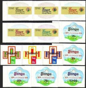 Tonga 337-341,C154-C158,CO87-CO89,MNH.Michel 489-498,D123-D125. UPU-100,Pigeon.