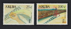 Aruba America Literacy Campaign 2v SG#307-308